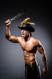 Ripper pirate. In the dark room Royalty Free Stock Photos