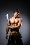 Ripper pirate. In the dark room Royalty Free Stock Image