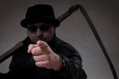 Ripper pointing his finger at you Stock Photo