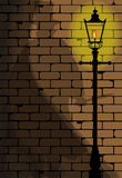 The Ripper. The shadow of Jack the Ripper on an old Victorian wall Stock Photography