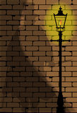 The Ripper. The shadow of Jack the Ripper on an old Victorian wall Royalty Free Stock Images