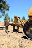 Ripper tool on bulldozer, Spain. Stock Images