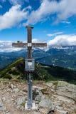 Rippeteck szczyt w Austria z widokiem Hohe Dachstein góra obraz royalty free