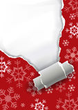 Ripping christmas paper background. Stock Image