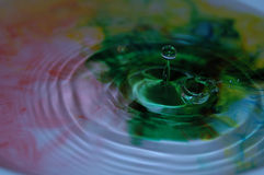 Ripple 13. Shapes,colors and textures formed in water Stock Image