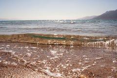 Ripple. S breaking on a beach on the Sinai coast in Egypt Stock Photos