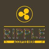Ripple accepted here stock illustration