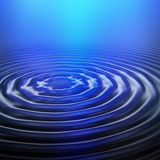 Ripple in blue light Stock Photography