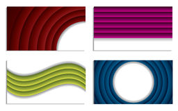 Ripple business vector set Royalty Free Stock Photos
