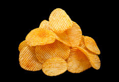 Ripple chips on black Royalty Free Stock Image