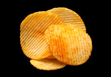 Ripple chips on black Stock Images