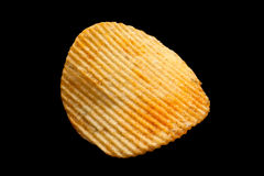Ripple chips on black Royalty Free Stock Images