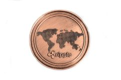 Ripple coin on white background royalty free stock photos