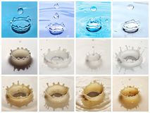 Ripple collection Royalty Free Stock Images