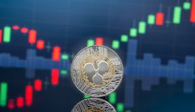 Ripple and cryptocurrency investing concept stock photography