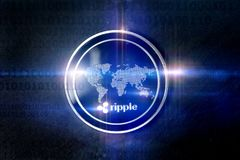 Ripple digital lights composing royalty free stock images
