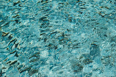 Ripple effect in the swimming pool. Royalty Free Stock Photography