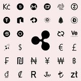 Ripple icon. Crepto currency icons universal set for web and mobile. On white background stock illustration