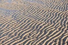 Ripple Marks on the North Frisian Island Amrum Stock Photos