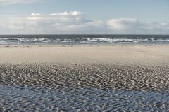 Ripple Marks on the North Frisian Island Amrum. In Germany Royalty Free Stock Image