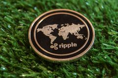 Ripple is a modern way of exchange and this crypto currency is a convenient means of payment in the financial and web markets. Ripple is a modern way of exchange royalty free stock photos
