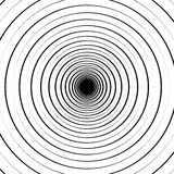 Ripple pattern with concentric circles. Circular geometric background. Royalty free vector illustration vector illustration