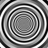 Ripple pattern with concentric circles. Grayscale circular geome. Tric background. - Royalty free vector illustration stock illustration