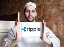 Ripple payment system logo Royalty Free Stock Photos