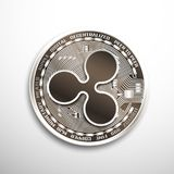 Ripple silver coin. Isolated detailed vector illustration on white background vector illustration