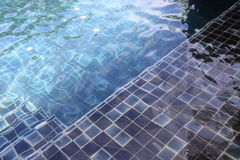 Ripple surface water in swimming pool Royalty Free Stock Image