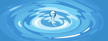 Ripple. Vector illustration of a water ripple with drop Royalty Free Stock Photos