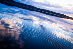 Ripple in water/lake. Kleifarvatn lake on the Reykjanes Peninsula in Iceland royalty free stock photo