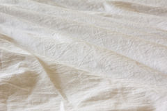 Cloth. Ripple white cloth as background Royalty Free Stock Images