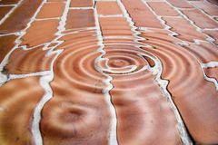 Rippled background. Fantasy background of rippled bricks Stock Photo