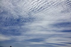 Rippled Cloudscape Over Valparaiso Chile Royalty Free Stock Photos