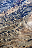 Rippled Desert Floor. This was taken from a helocopter above the desert in Nevada Stock Photos