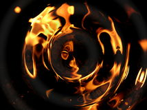 Rippled flames. Distorted flames stock photography