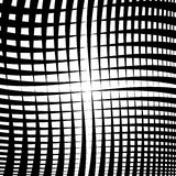 Rippled grid, mesh - Intersecting lines texture, abstract monoch Royalty Free Stock Images