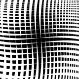 Rippled grid, mesh - Intersecting lines texture, abstract monoch Stock Image