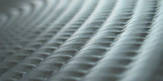 Rippled metal texture Royalty Free Stock Photography