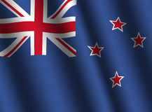 Rippled New Zealand flag Royalty Free Stock Photos