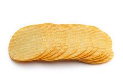 Rippled Potato chips Royalty Free Stock Photography