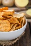 Rippled Potato Chips Stock Photography