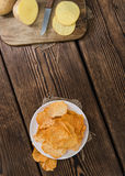 Rippled Potato Chips Stock Images
