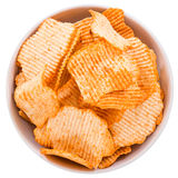 Rippled Potato Chips Royalty Free Stock Images