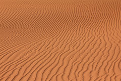 Rippled red brown desert or beach sand texture. Wavy background. Stock Image