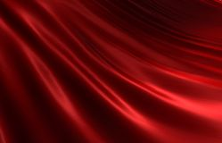 Rippled red silk II Royalty Free Stock Image