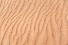 Rippled sand in desert. Royalty Free Stock Images