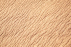 Rippled sand in desert. Stock Photo