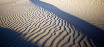 Rippled sand dunes Royalty Free Stock Image